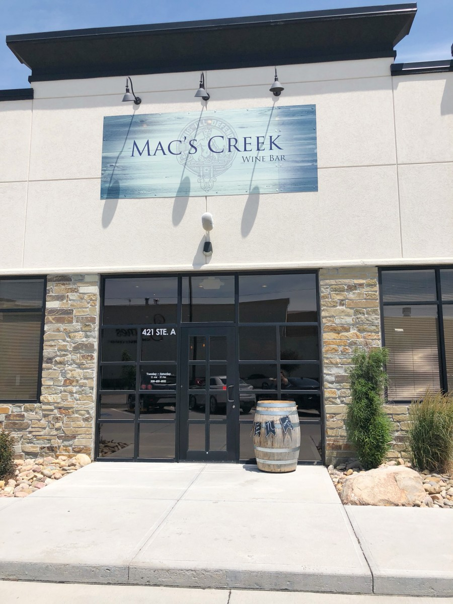 Mac's Creek Wine Bar Kearney Nebraska Her Heartland Soul