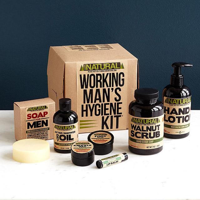 Hard Working Man's Hygiene Kit 14 Creative Valentine's Day Ideas for Him - Her Heartland Soul