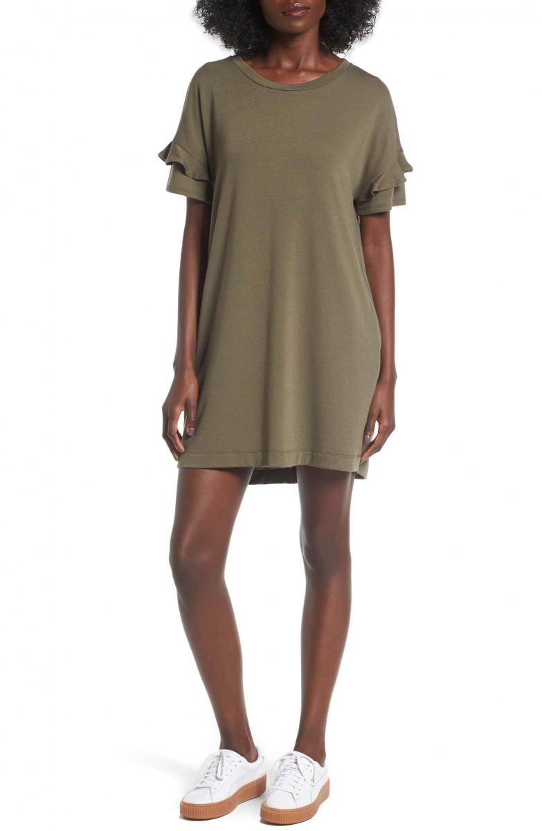 Ruffle Sleeve T-Shirt Dress - Her Heartland Soul