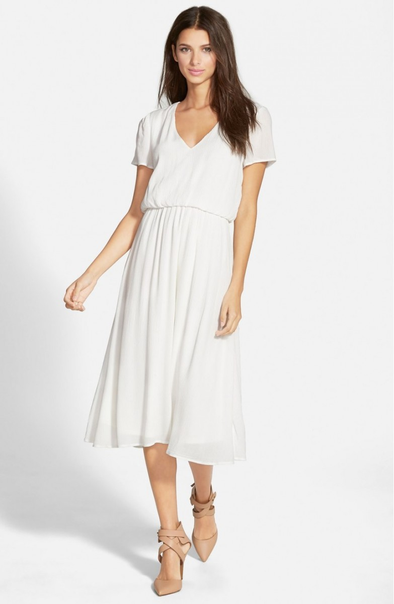 Wayf Blouson Midi Dress Her Heartland Soul
