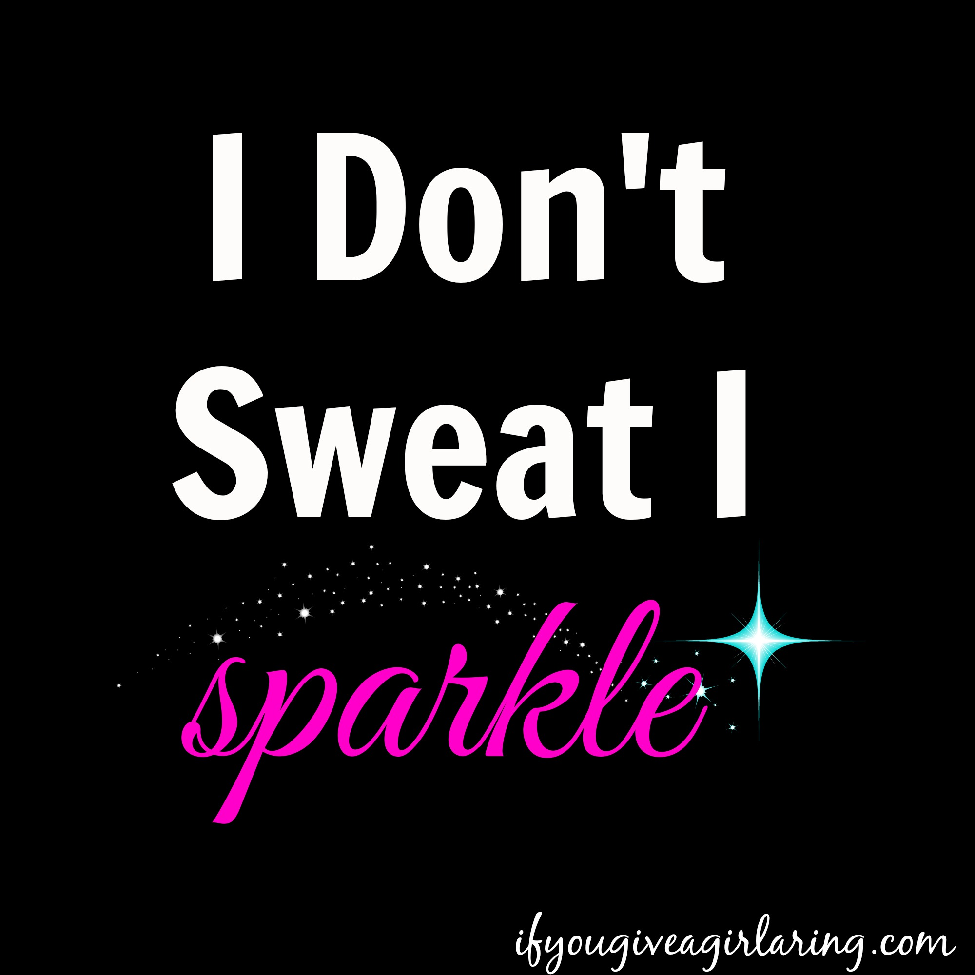 I sparkle