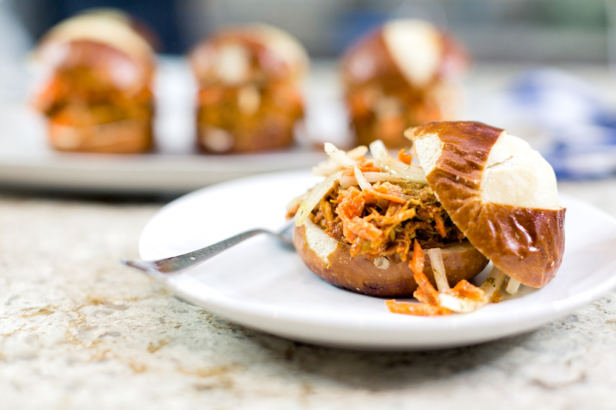 Instant Pot BBQ Chicken Sliders - Her Heartland Soul