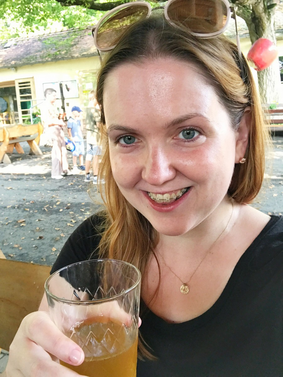 Drinking Apfelwein - Main Appelhaus Lohrberg - Frankfurt Germany - Her Heartland Soul