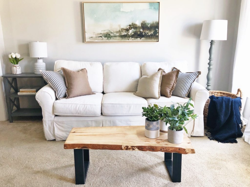 Coastal Living Room Makeover - Her Heartland Soul