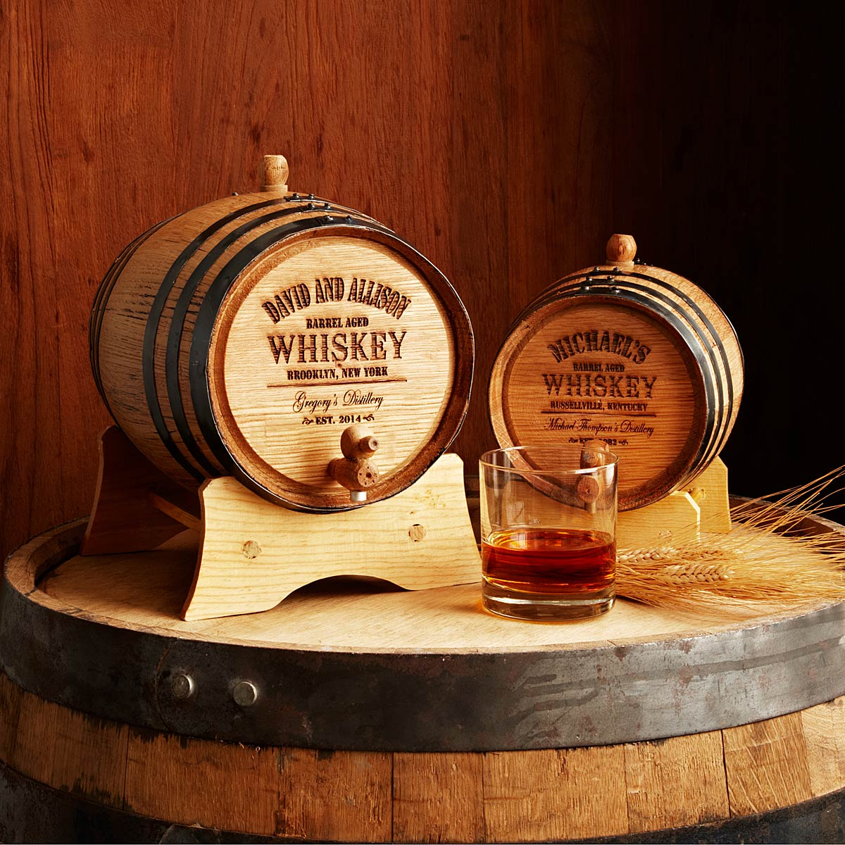 Personalized Whiskey Barrel 14 Creative Valentine's Day Ideas for Him - Her Heartland Soul