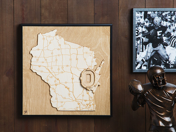 Laser Cut Stadium State Map 14 Creative Valentine's Day Ideas for Him - Her Heartland Soul