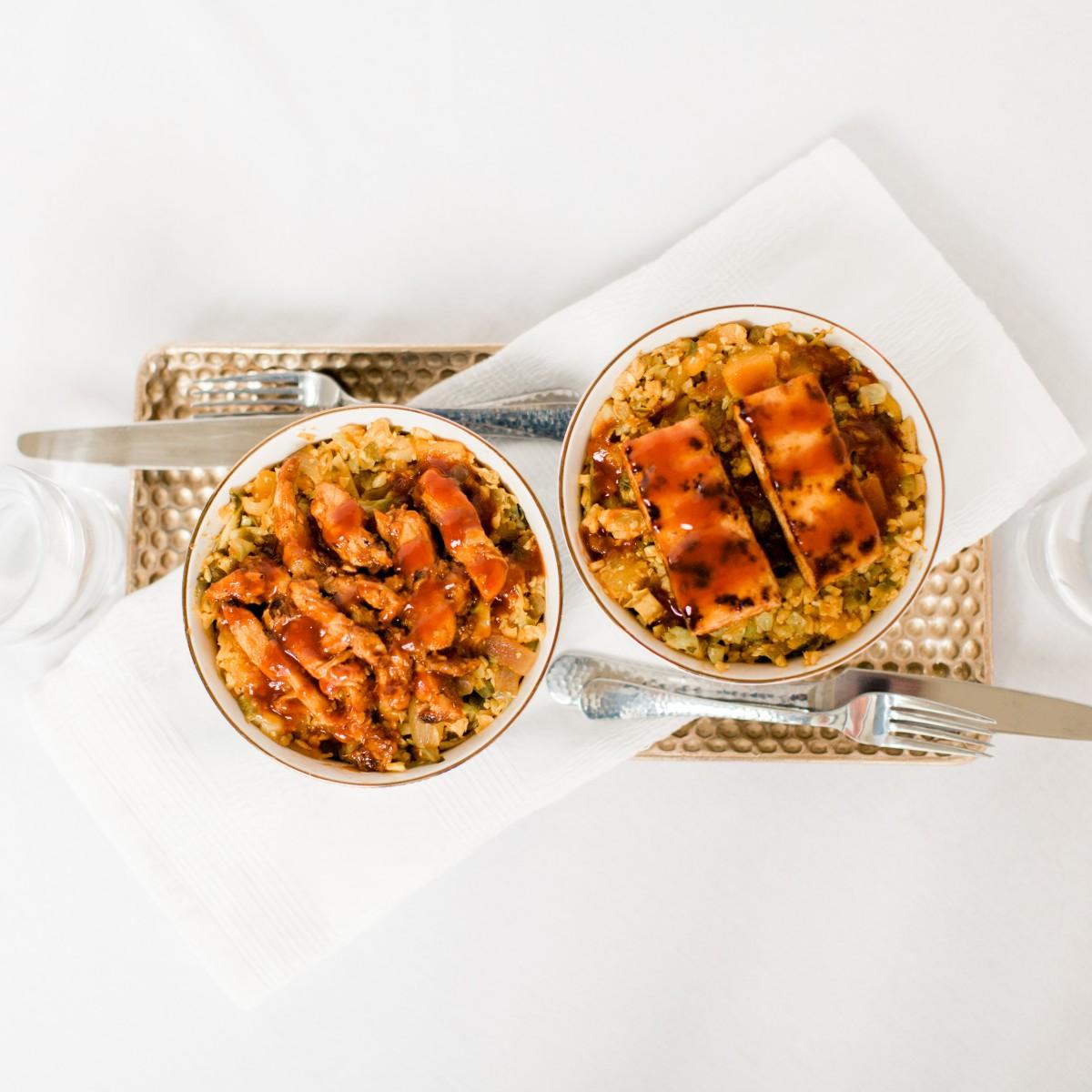 BBQ Cauliflower Rice Bowl Recipe Her Heartland Soul