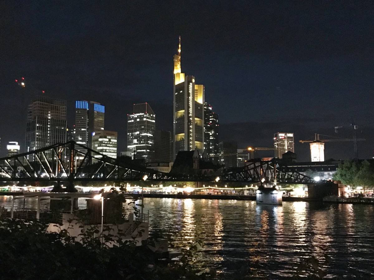 Downtown Frankfurt at Night - Frankfurt Germany - Her Heartland Soul