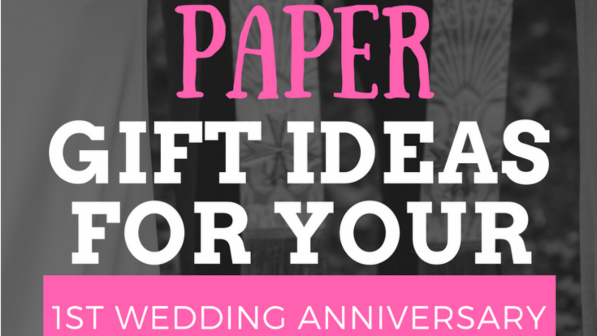 5 creative paper gift ideas for your 1st wedding anniversary for Paper gift ideas for anniversary