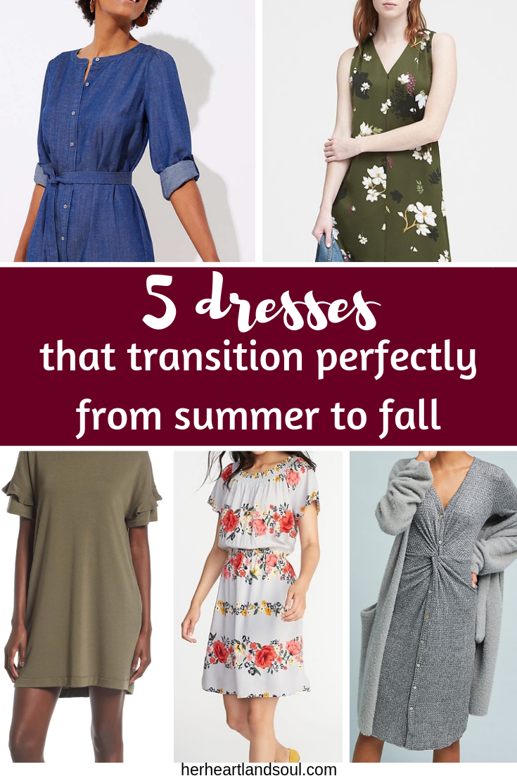 5 dresses that transition perfectly from summer dresses to fall dresses - Her Heartland Soul