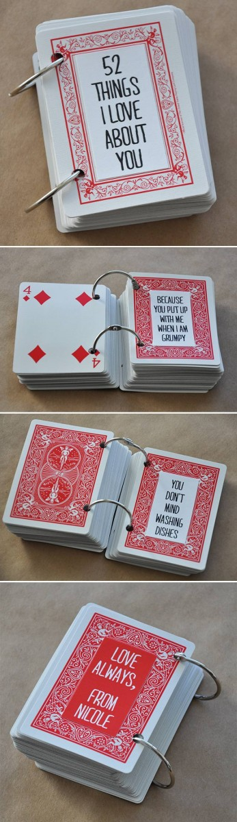 52 things I love about you cards 14 Creative Valentine's Day Ideas for Him - Her Heartland Soul