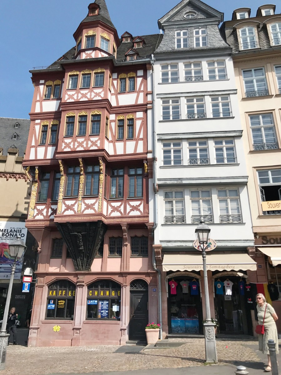 Römerberg Frankfurt, historical old town with German timberframe houses - Her Heartland Soul