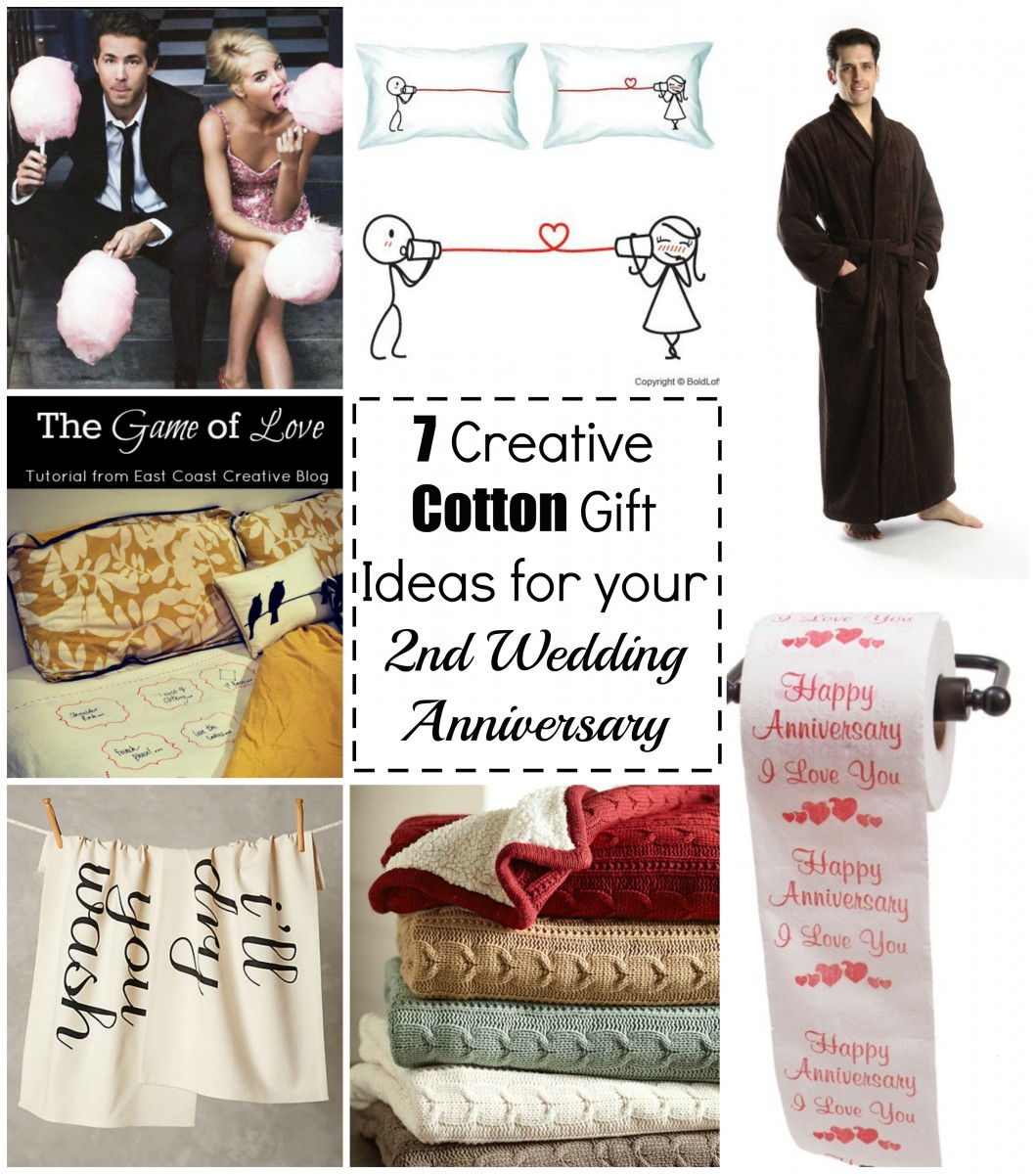 Wedding Gifts For 2nd Marriages : creative cotton gift ideas for your 2nd wedding anniversary her ...