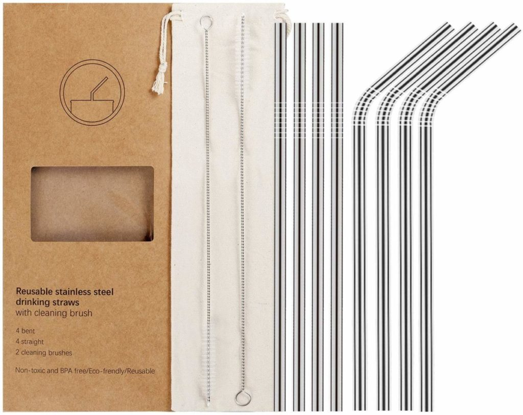 Stainless Steel Reusable Metal Straws - Christmas Gift Ideas for Her - Her Heartland Soul