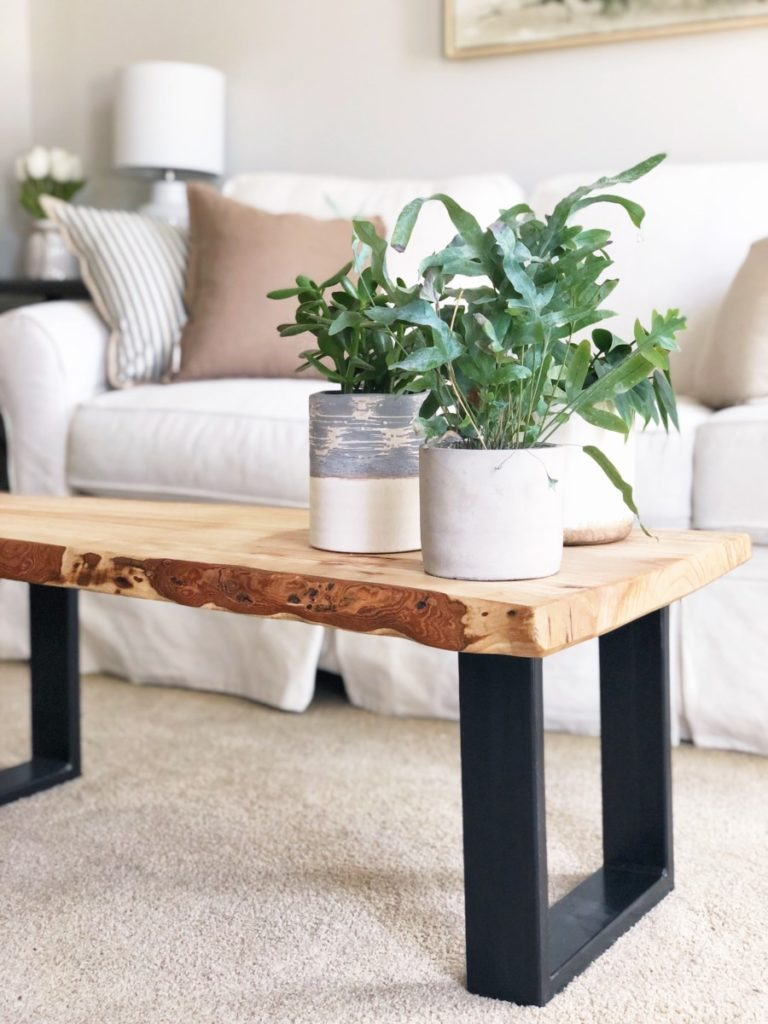 Urban Bark Coffee Table Living Room Makeover - Her Heartland Soul