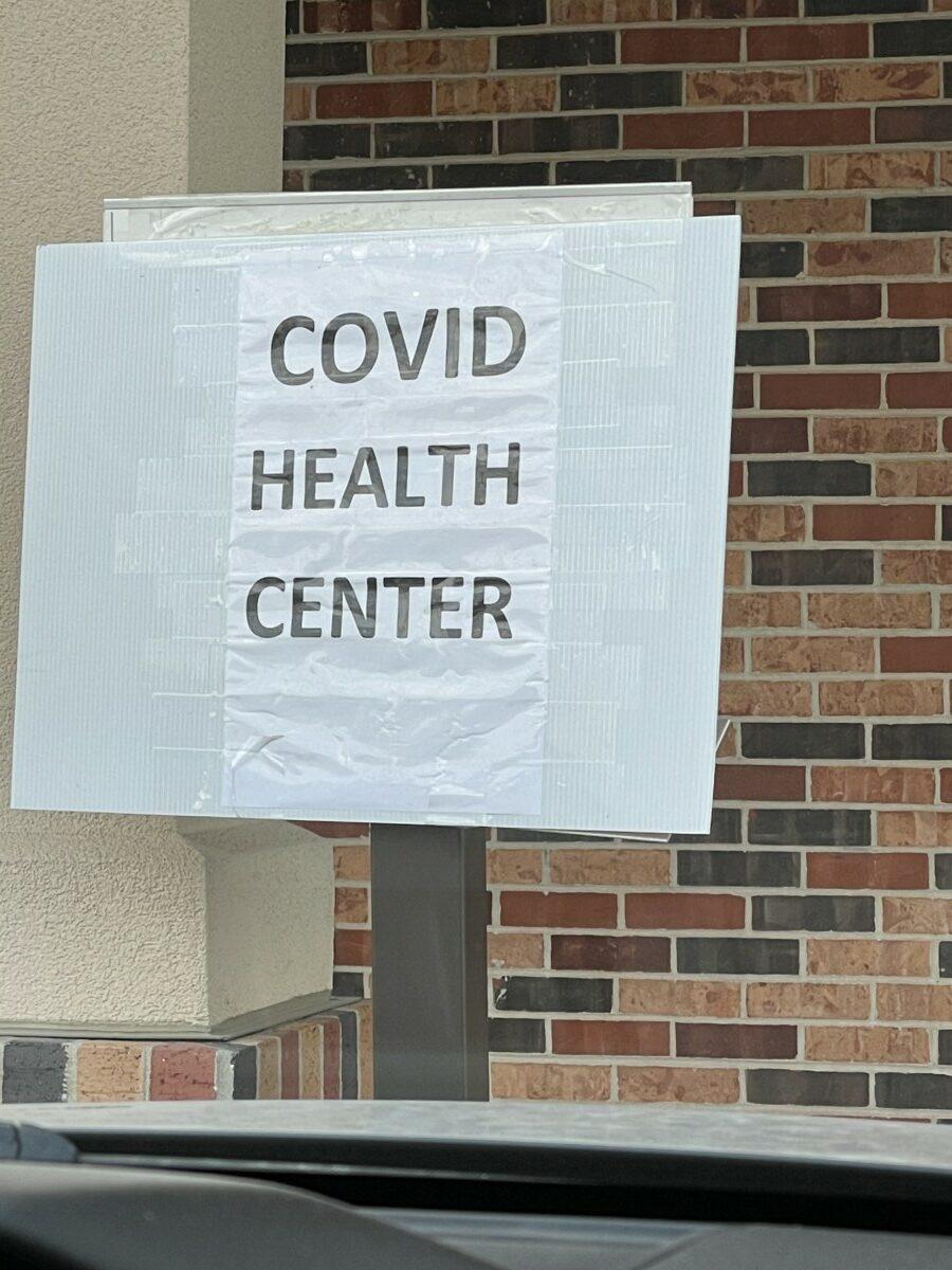 COVID Health Center Sign
