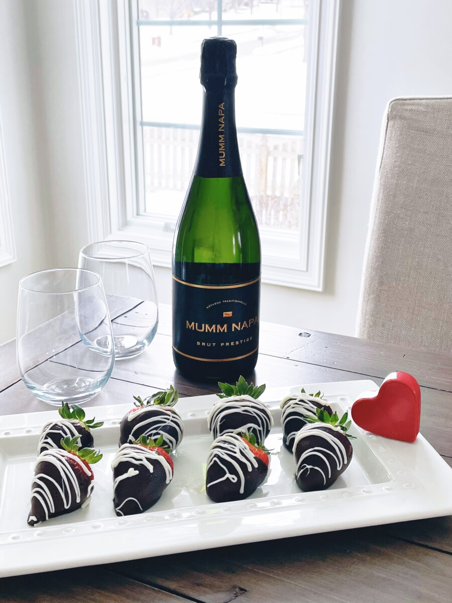 Chocolate Covered Strawberries and Champagne for Valentine's Day from Hy-Vee - Her Heartland Soul