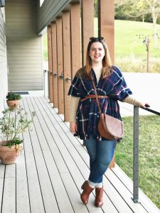 A Plaid Poncho Look