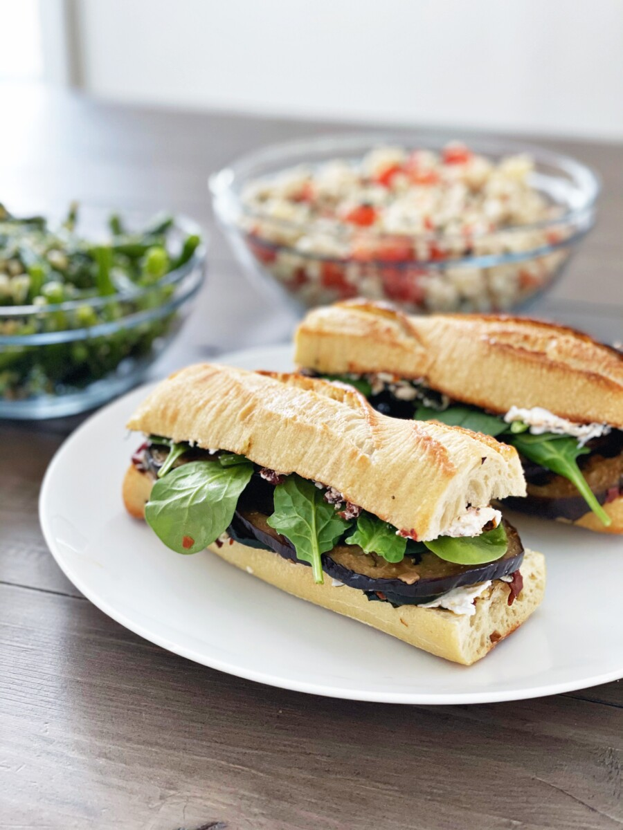 Grilled Vegetable, Herb, and Goat Cheese Sandwiches - Her Heartland Soul