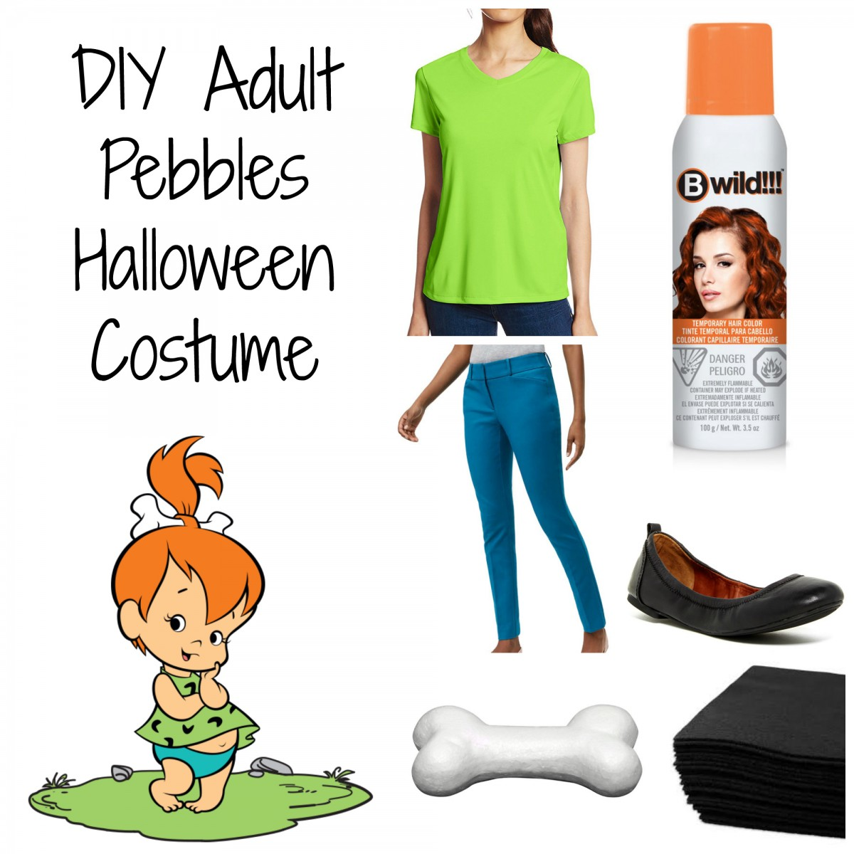 DIY Adult Pebbles Halloween Costume Her Heartland Soul  sc 1 st  Her Heartland Soul & DIY Adult Pebbles Halloween Costume - Her Heartland Soul