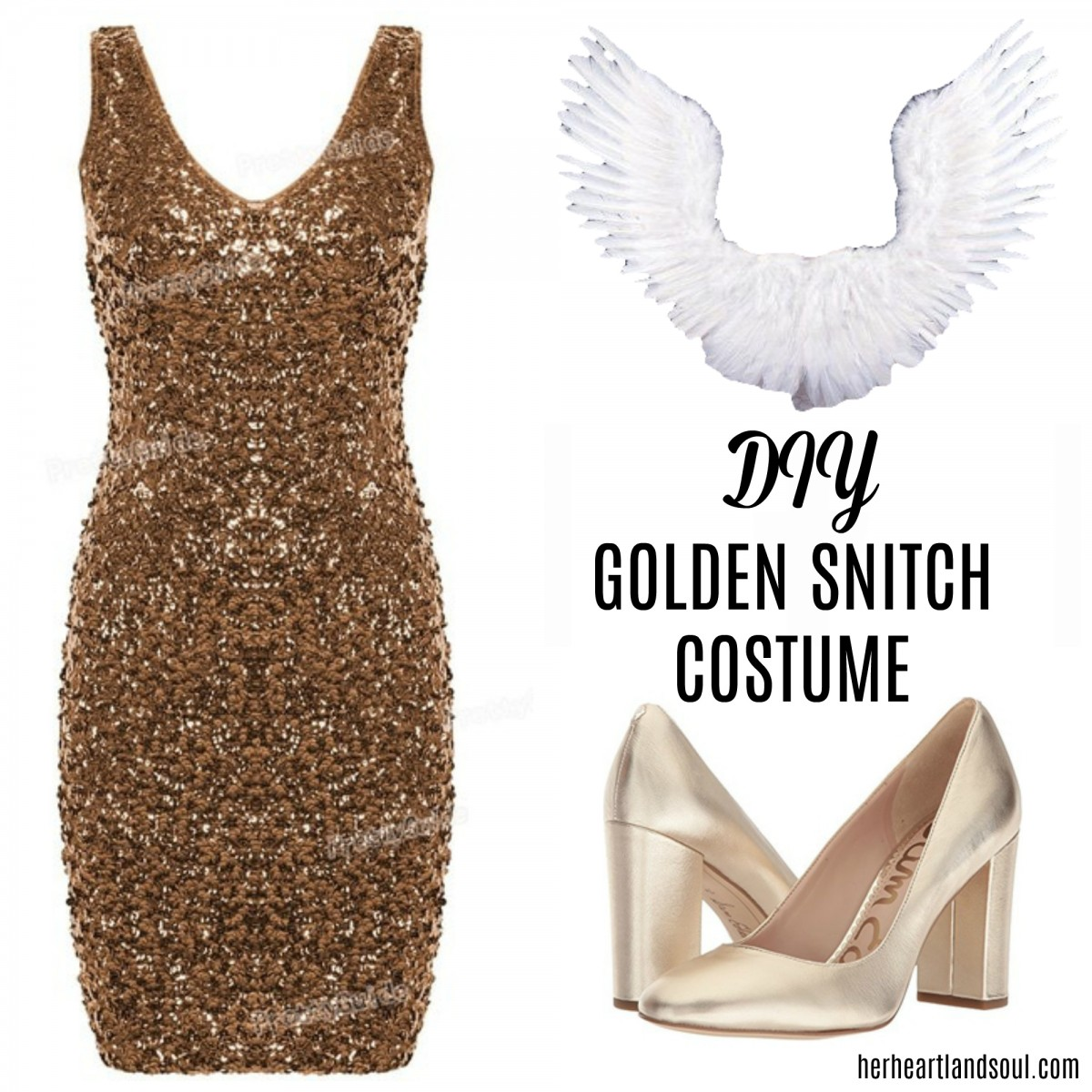 DIY Golden Snitch Costume Halloween - Her Heartland Soul