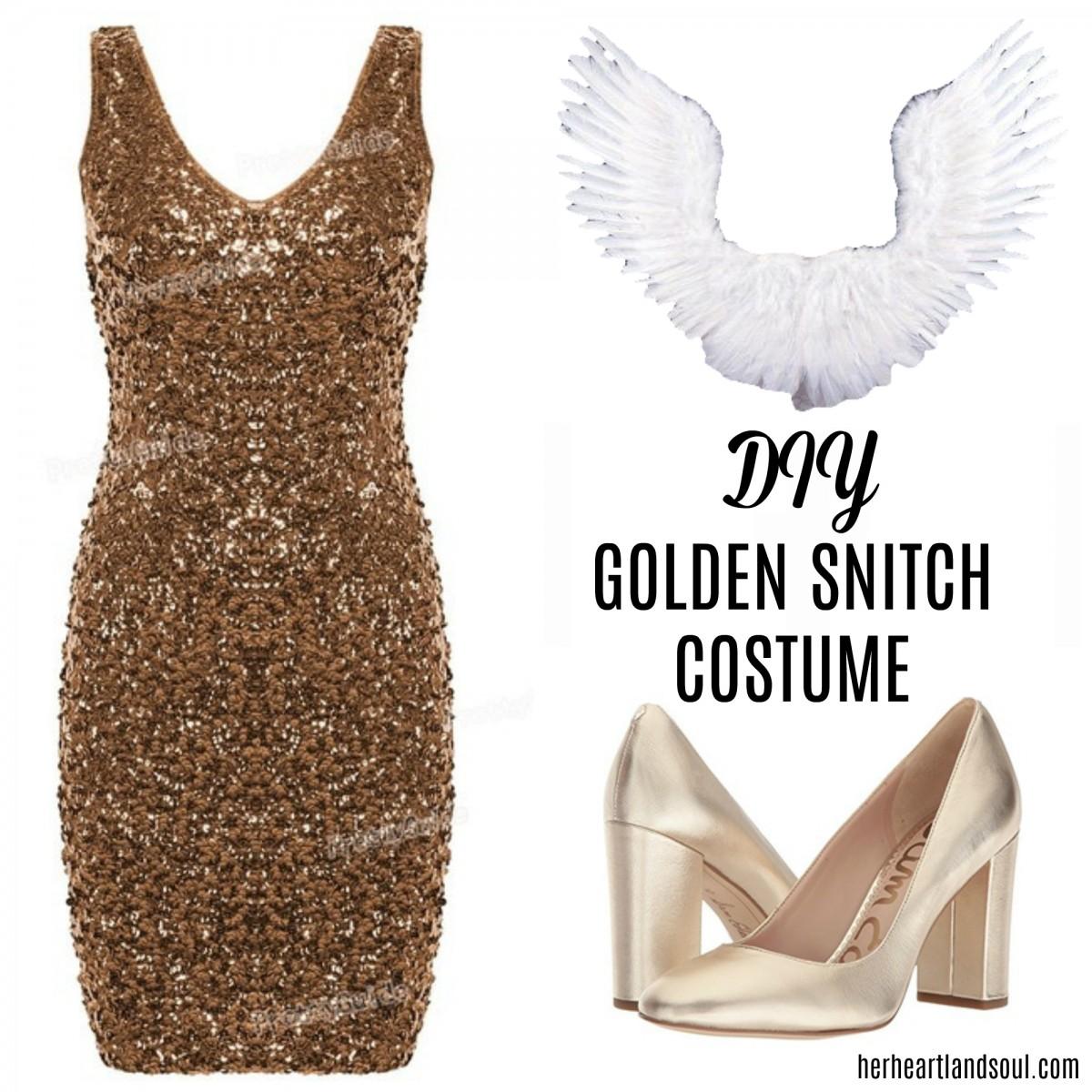 DIY Golden Snitch Costume Halloween - Her Heartland Soul