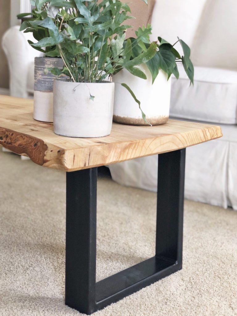 Urban Bark Coffee Table Living Room Makeover - Her Heartland Soul