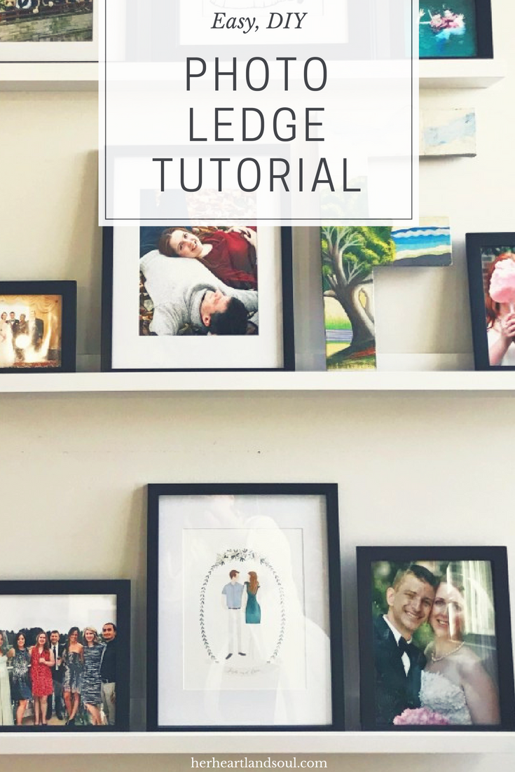 A DIY Picture Ledge Tutorial Her Heartland Soul