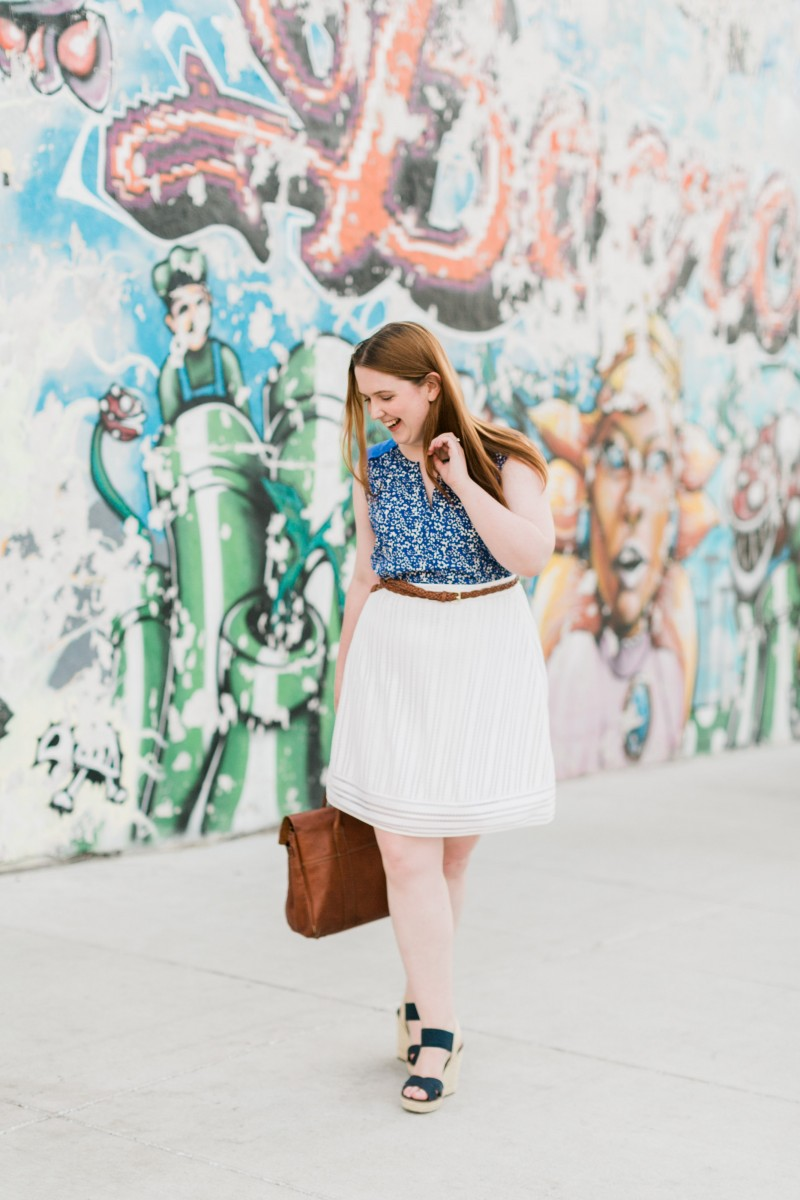 Floral Top White J.Crew Skirt Her Heartland Soul