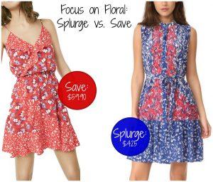 Focus on Floral: Splurge vs. Save
