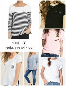 Focus on: embroidered tees