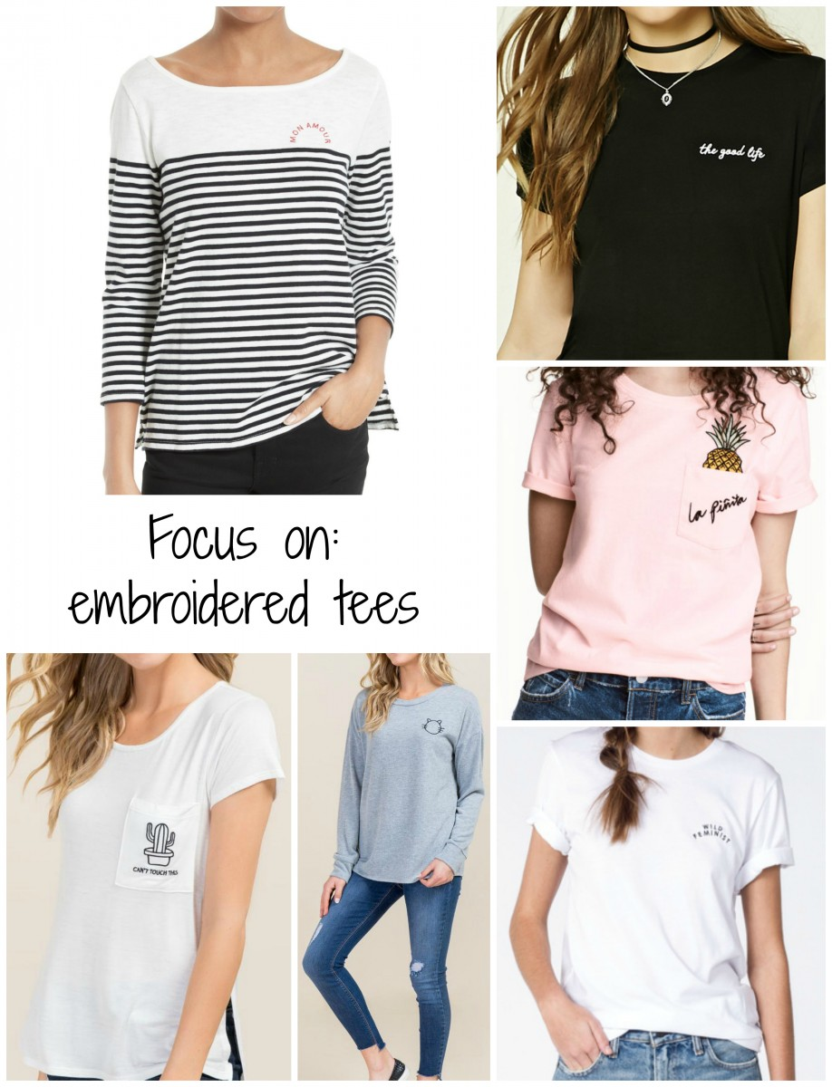 Focus on embroidered tees her heartland soul