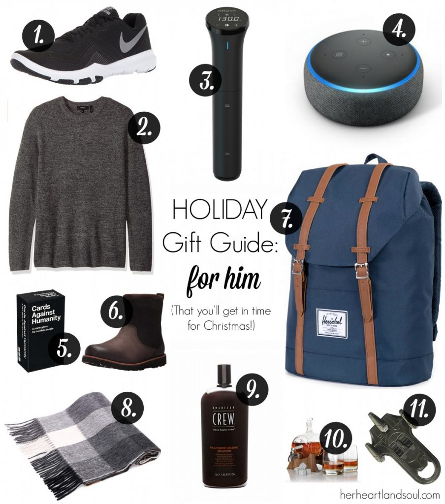 Holiday Gift Guide for Him - Her Heartland Soul