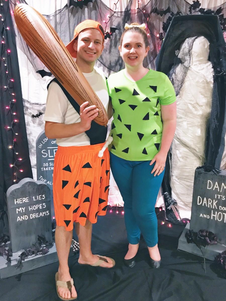 DIY Pebbles and bamm Bamm Adult Halloween Costume Her Heartland Soul
