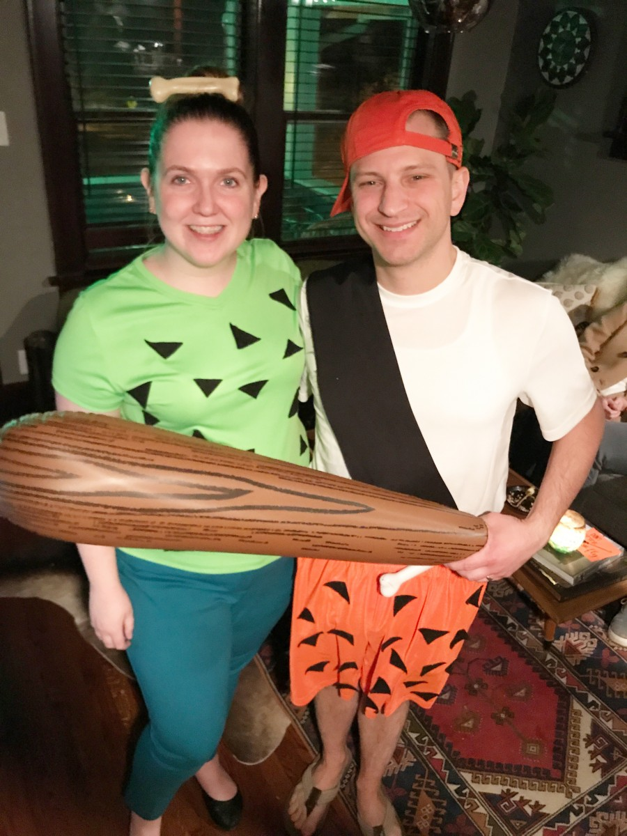 Pebbles and Bamm Bamm Adult DIY Costumes Her Heartland Soul