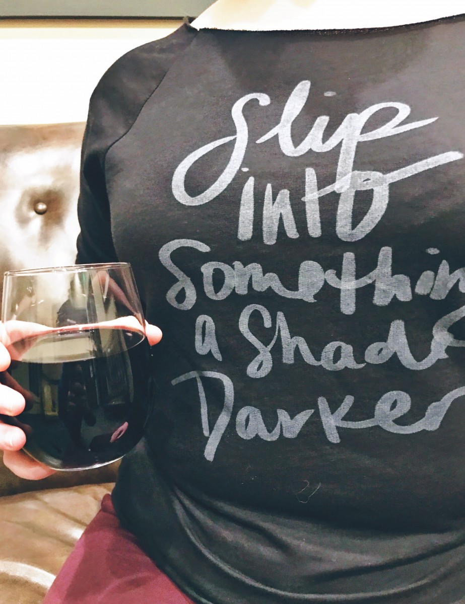 Slip into something a shade darker Fifty Shades Darker Galentine's Day Party Her Heartland Soul