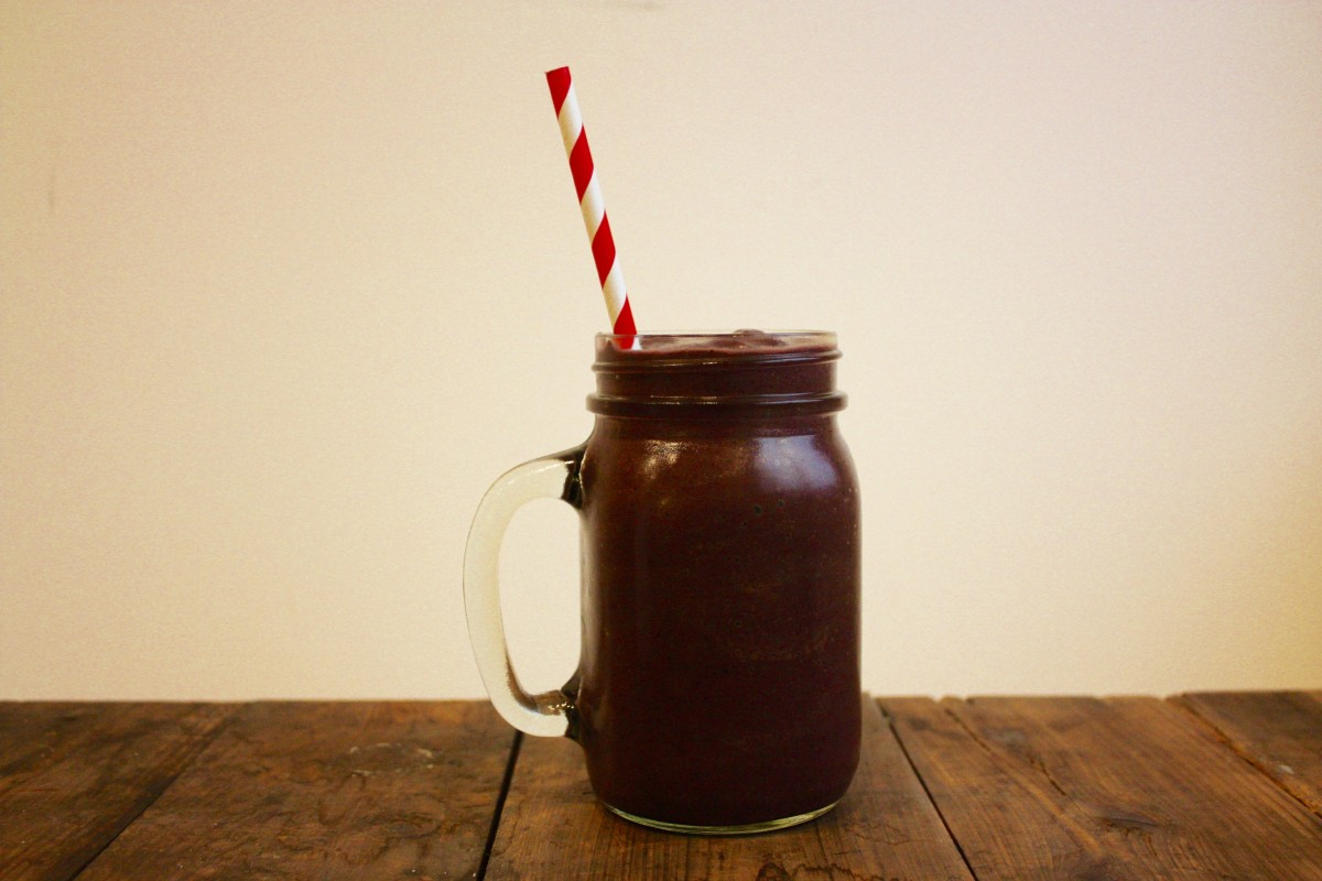 perfectly sweet acai protein smoothie her heartland soul