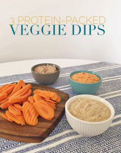 3 Protein-Packed Veggie Dips