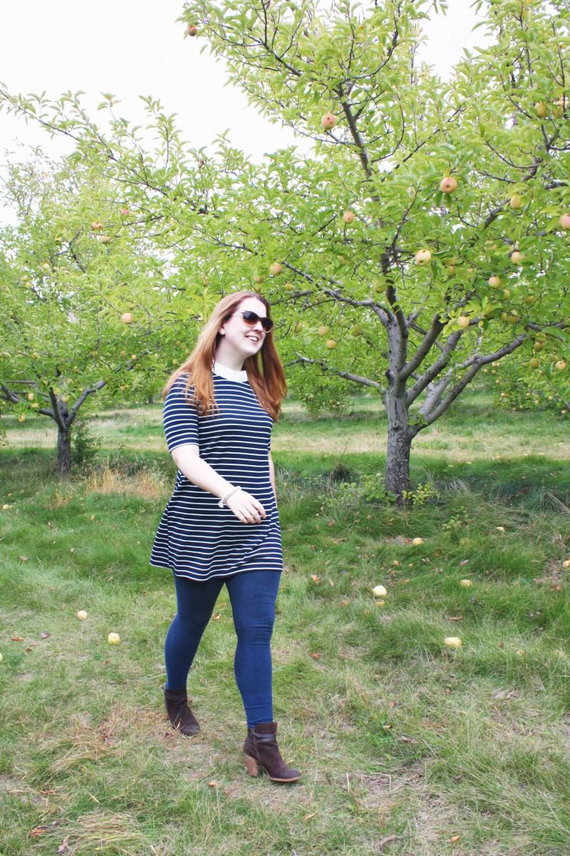 Fall Stripe Dress Her Heartland Soul