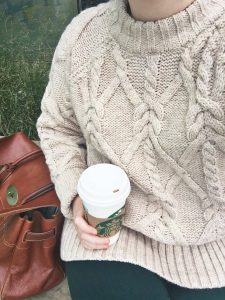 My favorite fall cable knit sweater