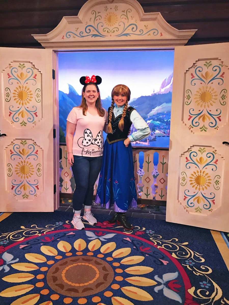 Meeting Anna Frozen Epcot Her Heartland Soul