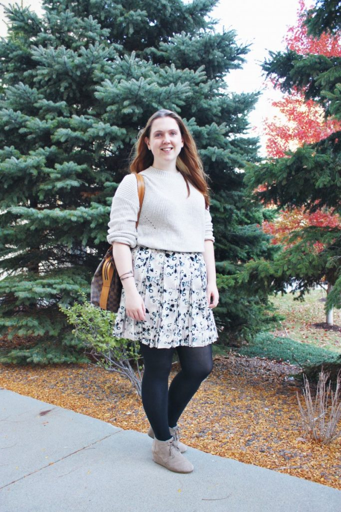 A Fall Sweater and Skirt Pairing