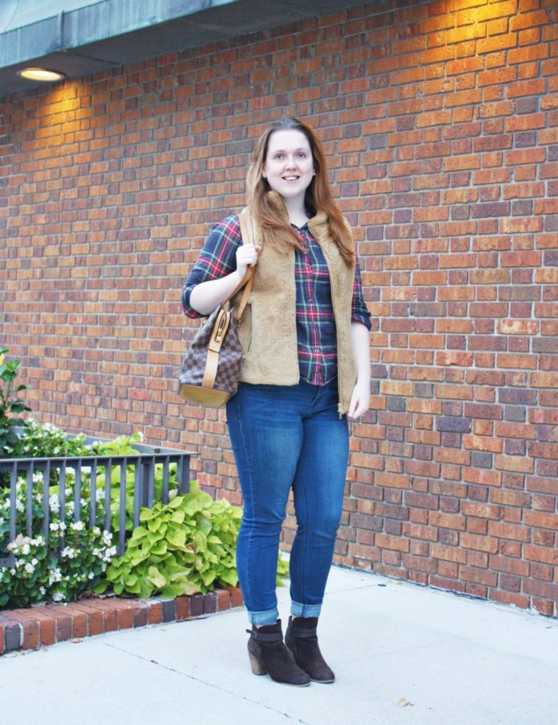 The Perfect Vest to Pair with Plaid