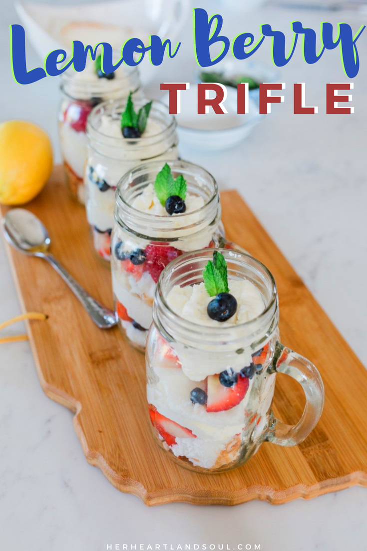 Lemon Berry Trifle - Her Heartland Soul