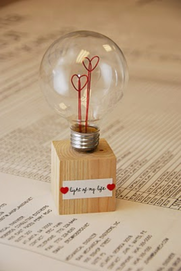 Valentine's Day Light Bulb 14 Creative Valentine's Day Ideas for Him - Her Heartland Soul