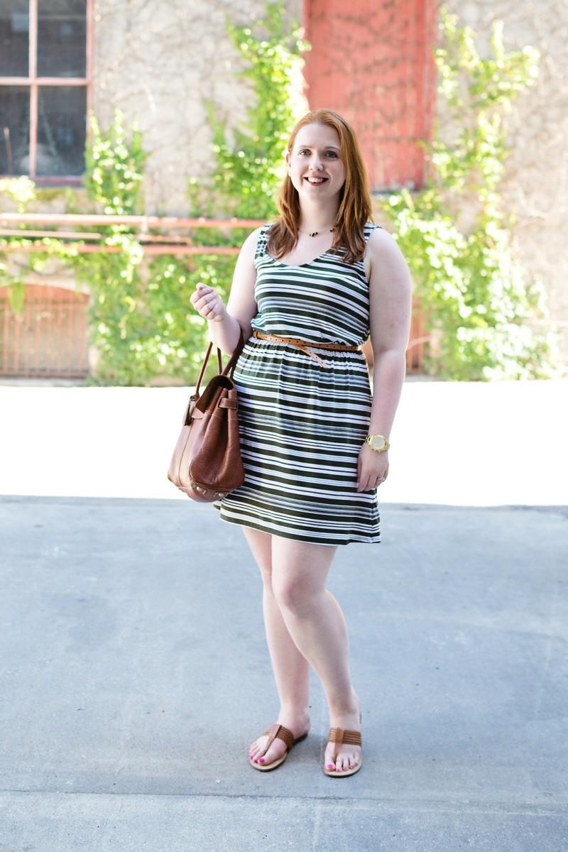 Green Striped Dress Her Heartland Soul