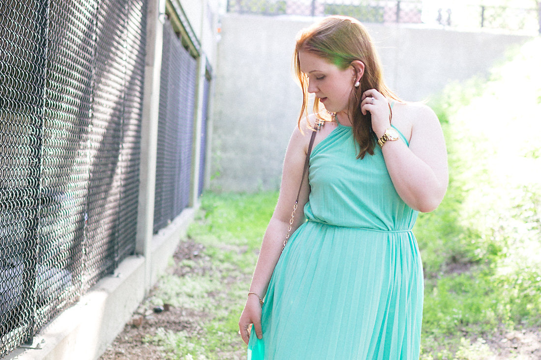 Aqua Maxi Dress Her Heartland Soul Erin Fairchild