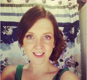 Erin Smith Girl Gone Veggie Wedding Hair