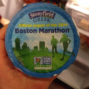 Stonyfield Greek Yogurt Boston Marathon Girl Gone Veggie