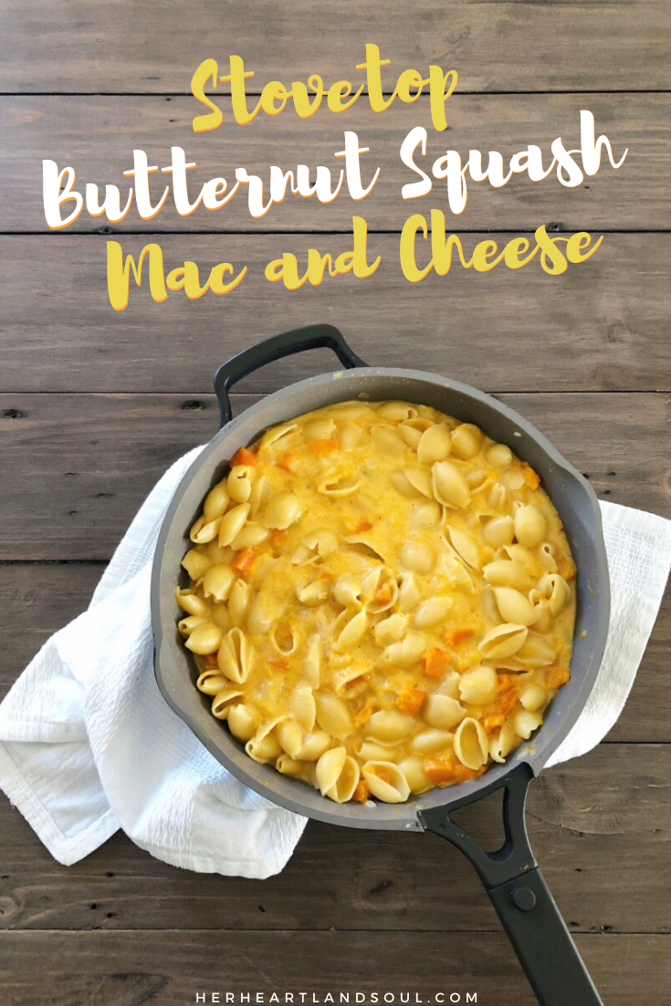 Stovetop Butternut Squash Mac and Cheese